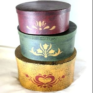 Vintage Cardboard Nesting Boxes Set of 3